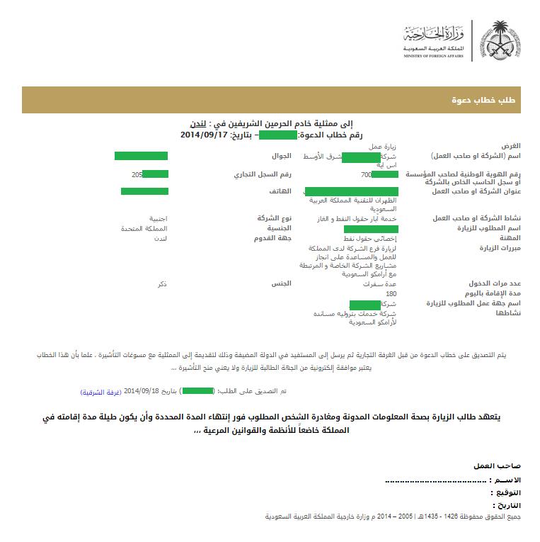 Saudi Visa Invitation Letter through Saudi MOFA & Chamber ...